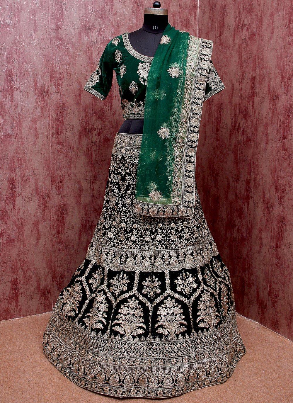 Velvet Sangeet Lehenga Choli