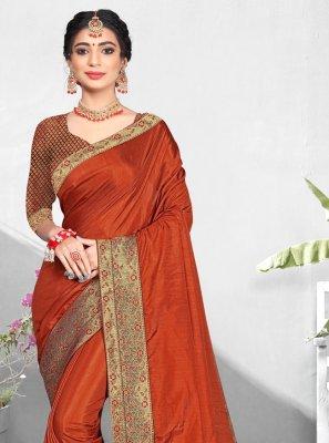 Vichitra Silk Ceremonial Traditional Designer Saree