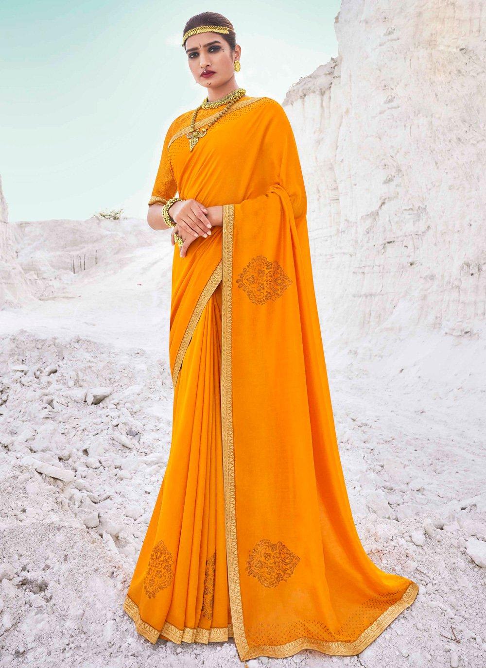 Vichitra Silk Classic Designer Saree