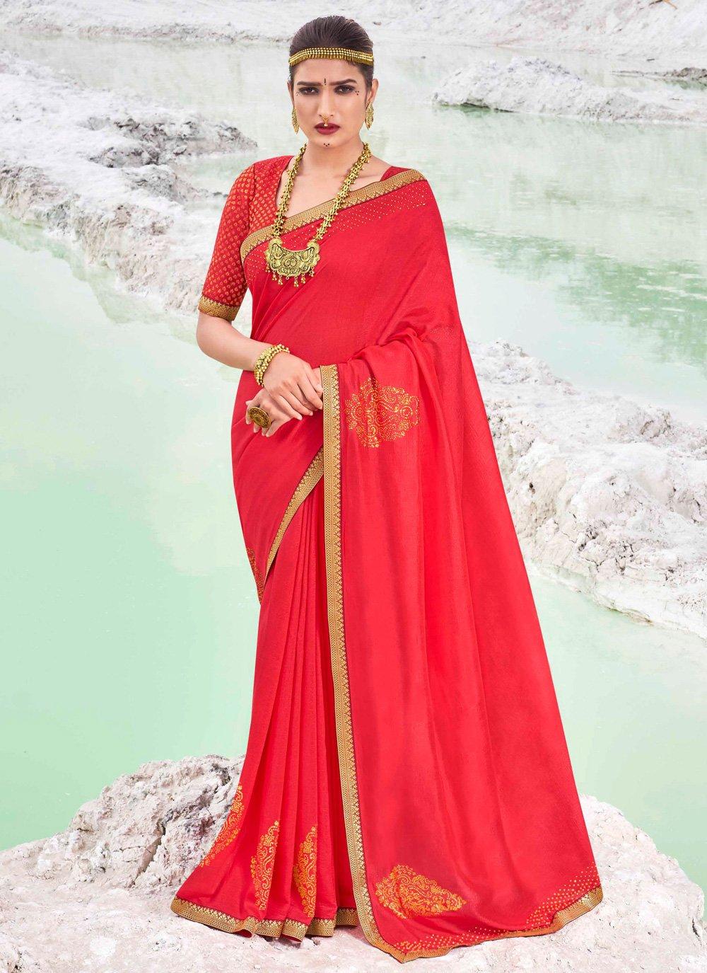 Vichitra Silk Festival Classic Designer Saree