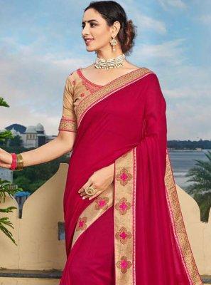 Vichitra Silk Festival Designer Traditional Saree