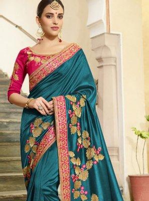 Vichitra Silk Festival Traditional Designer Saree