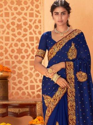 Vichitra Silk Patch Border Classic Saree