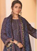 Violet Color Designer Salwar Kameez