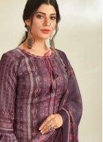 Violet Digital Print Designer Pakistani Suit