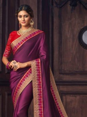 Violet Traditional Designer Saree