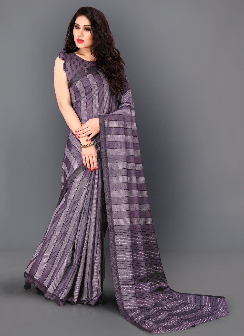 Violet Trendy Saree