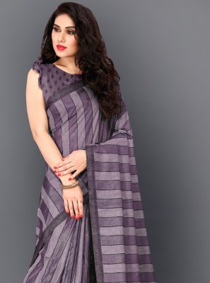Violet Trendy Saree