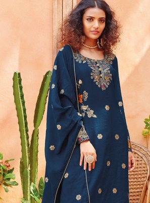 Viscose Embroidered Pant Style Suit