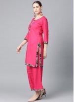 Viscose Pink Plain Bollywood Salwar Kameez