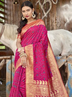 Weaving Banarasi Silk Designer Traditional Saree