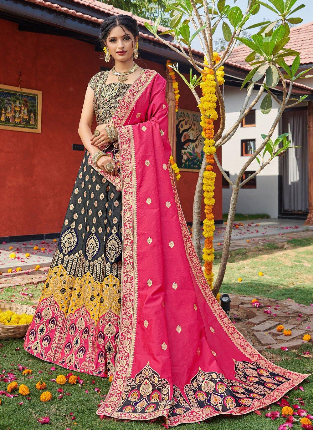 Weaving Banarasi Silk Lehenga Choli