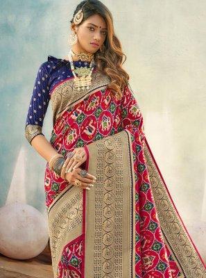 Weaving Banarasi Silk Multi Colour Designer Traditional Saree