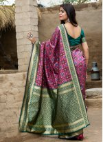 Weaving Banarasi Silk Traditional Designer Saree