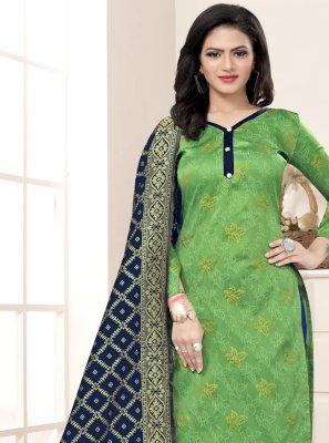 Weaving Churidar Salwar Suit