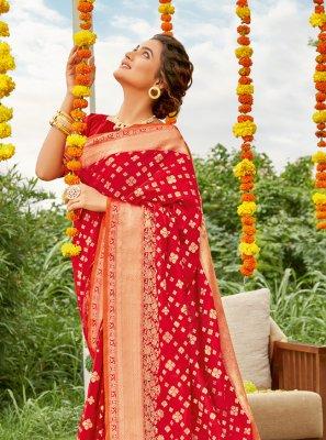 Weaving Engagement Designer Saree