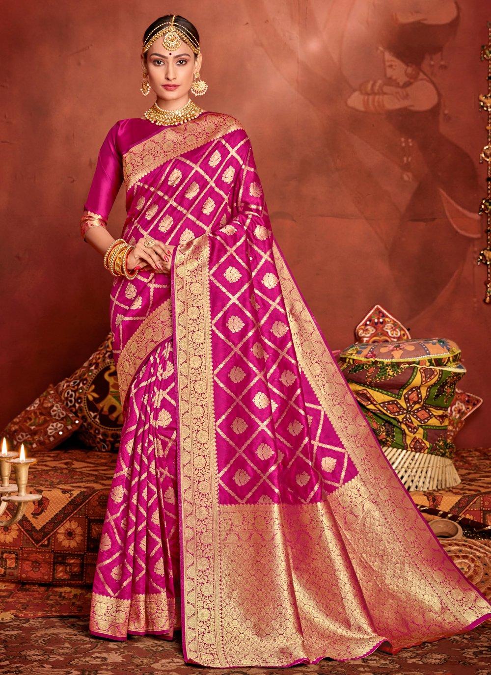 Weaving Engagement Designer Traditional Saree