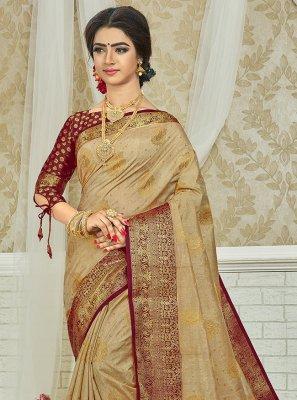 Weaving Engagement Silk Saree