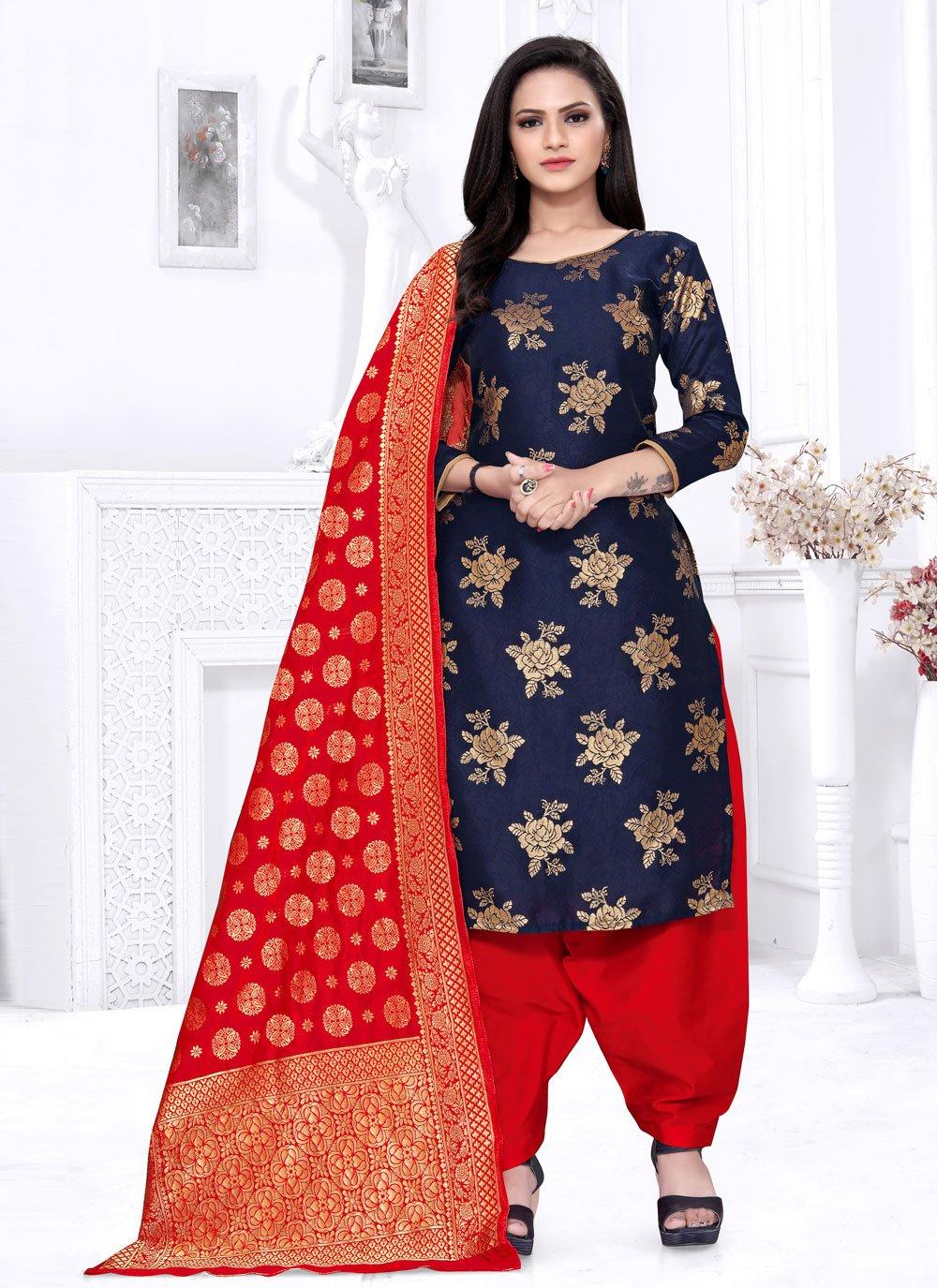 Weaving Festival Punjabi Suit