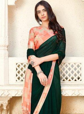 Weaving Green Classic Saree