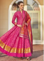 Weaving Jacquard Readymade Anarkali Suit