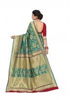 Weaving Jacquard Silk Silk Saree