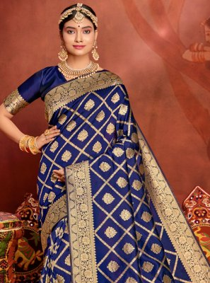 Weaving Jacquard Silk Traditional Designer Saree