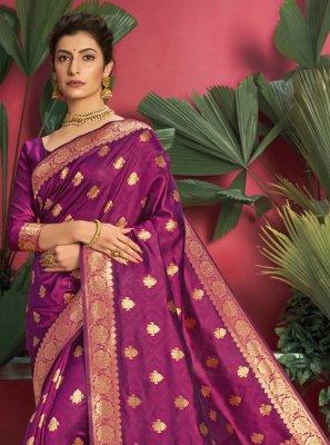 Weaving Jacquard Silk Traditional Saree