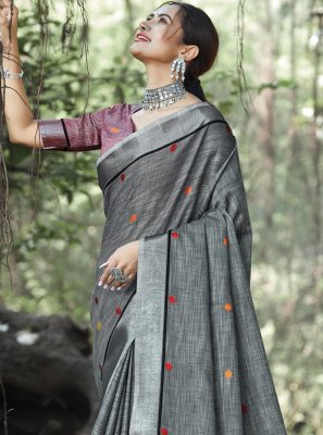 Weaving Linen Trendy Saree