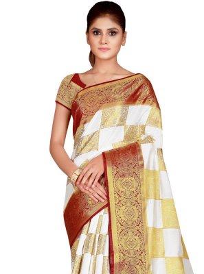 Weaving Nylon Traditional Saree