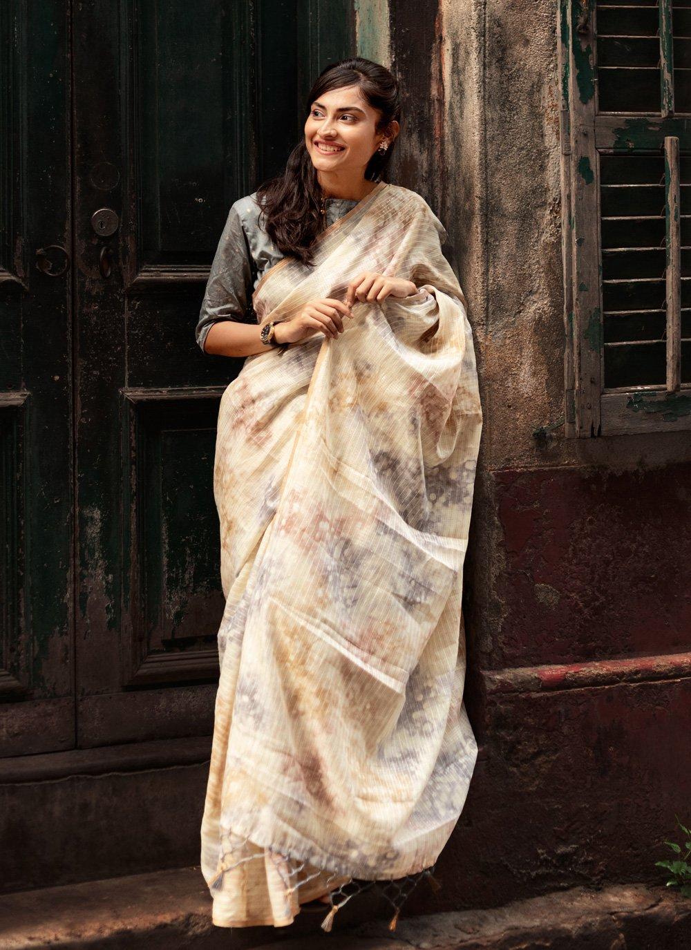 Weaving Organza Designer Traditional Saree in Multi Colour