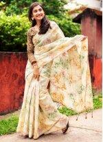 Weaving Organza Traditional Designer Saree