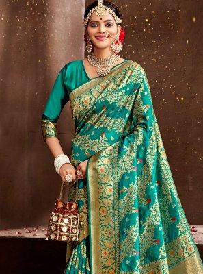 Weaving Rama Designer Traditional Saree