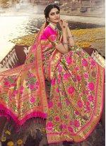 Weaving Rani Designer Traditional Saree