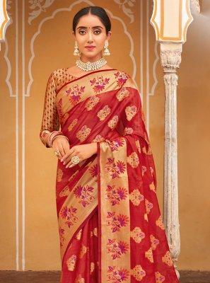Weaving Sangeet Traditional Designer Saree