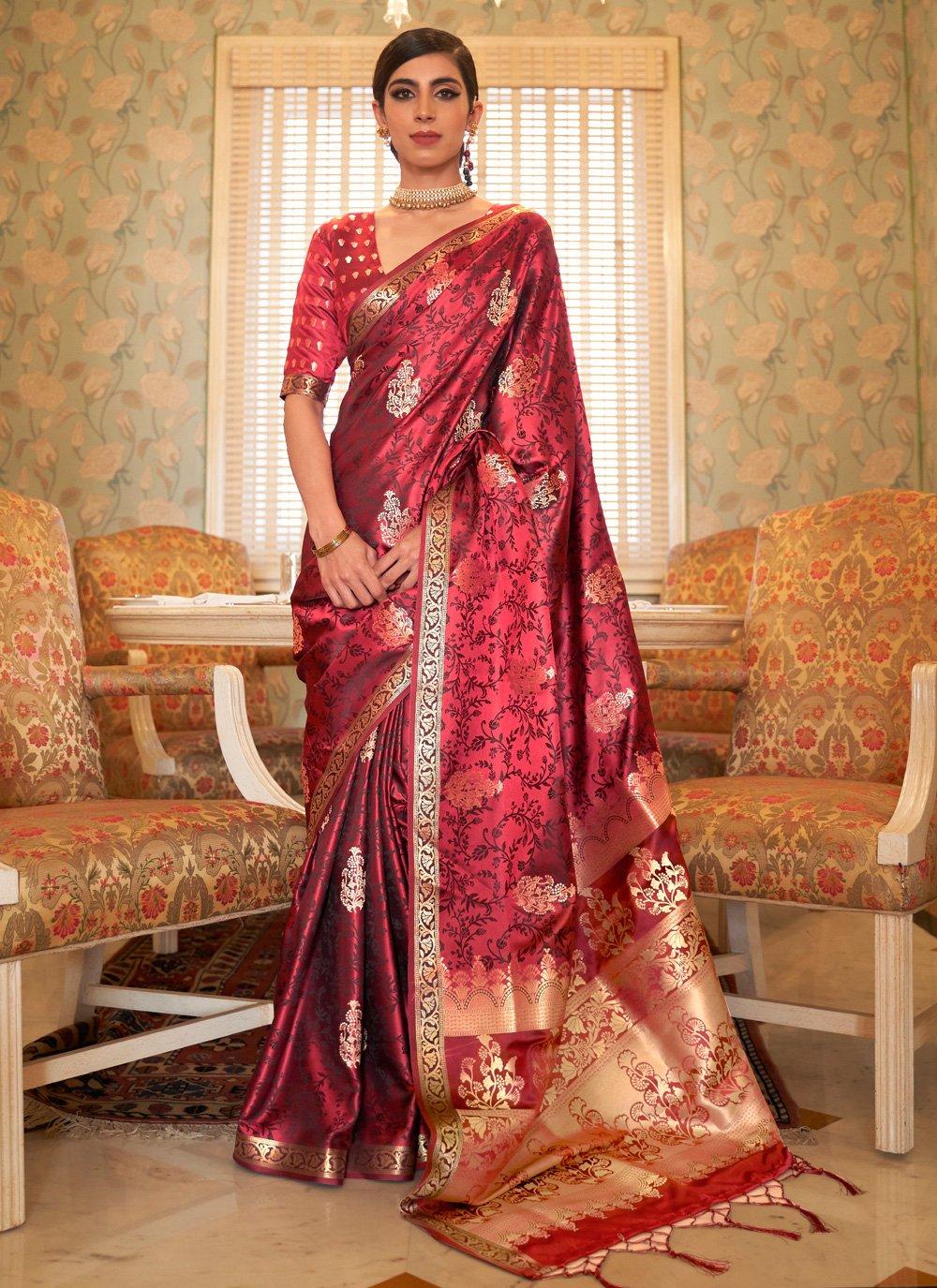 Weaving Satin Designer Traditional Saree