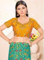 Weaving Satin Silk Lehenga Choli
