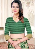 Weaving Silk Green Designer Traditional Saree