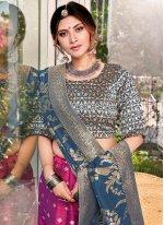Weaving Silk Purple Trendy Lehenga Choli