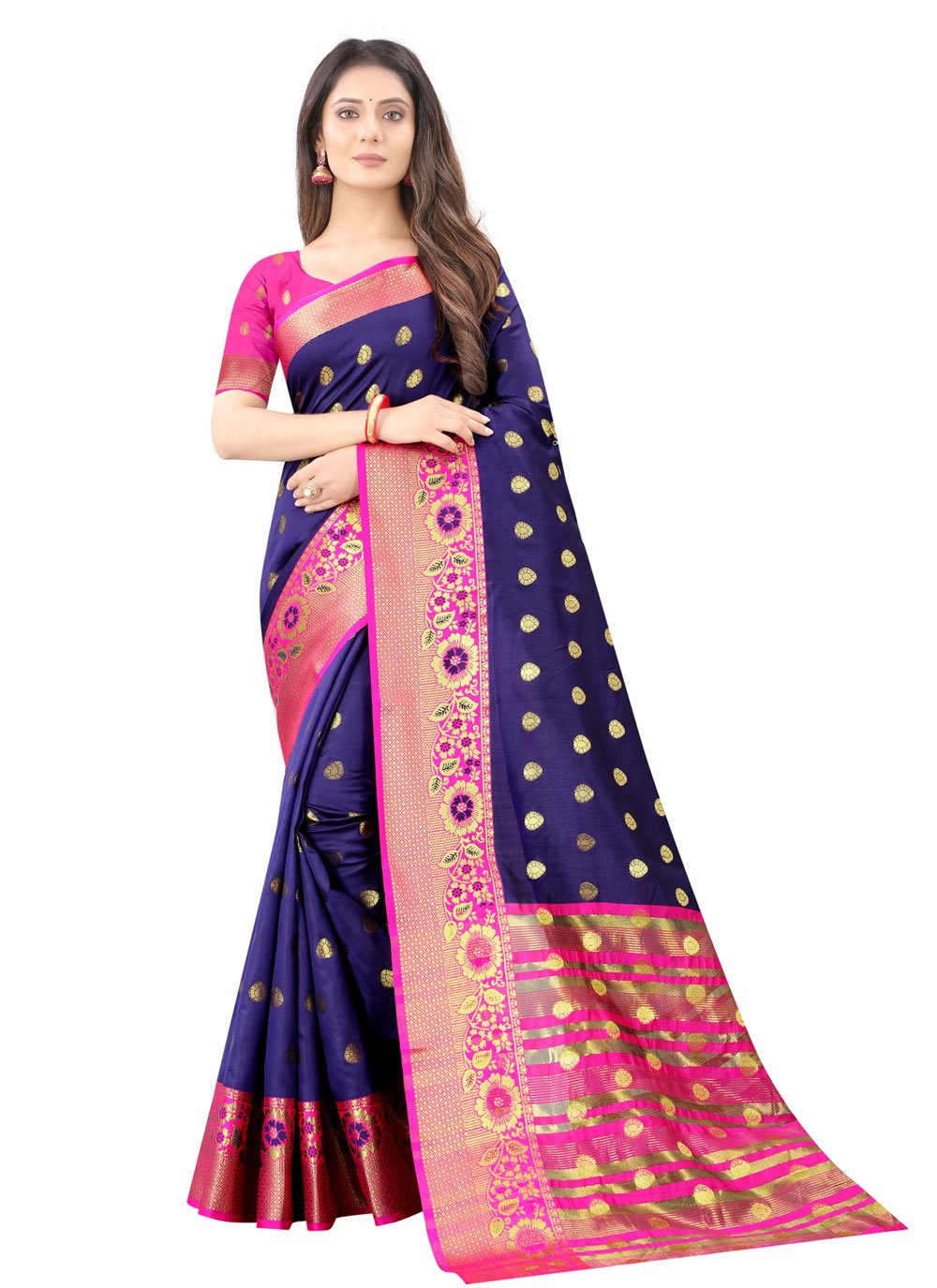 Weaving Silk Traditional Designer Saree in Blue
