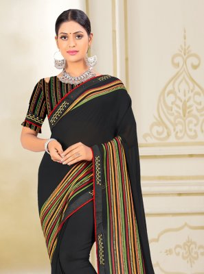 Weight Less Fancy Classic Saree in Black
