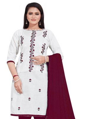 White Casual Salwar Suit