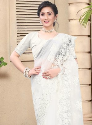 White Party Contemporary Saree