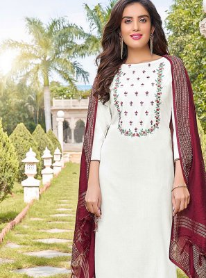 White Party Trendy Salwar Kameez