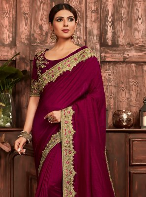 Wine Ceremonial Traditional Designer Saree