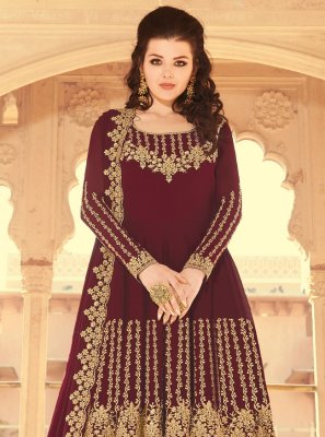 Wine Color Designer Pakistani Salwar Suit