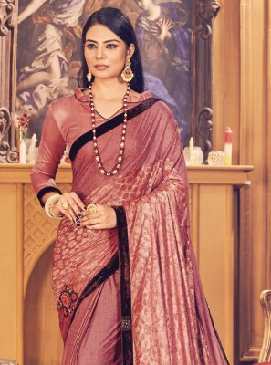Wine Fancy Classic Designer Saree