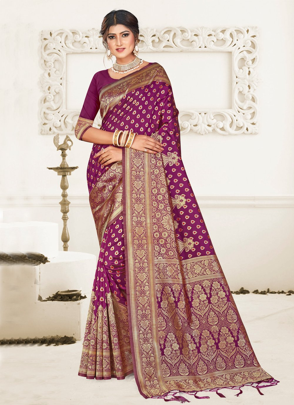 Wine Festival Designer Traditional Saree