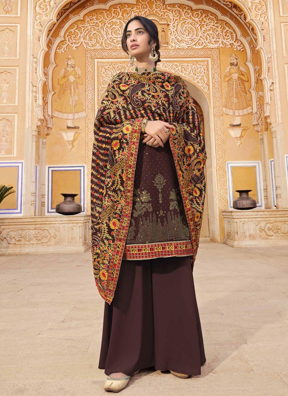 Wine Festival Faux Georgette Designer Pakistani Salwar Suit