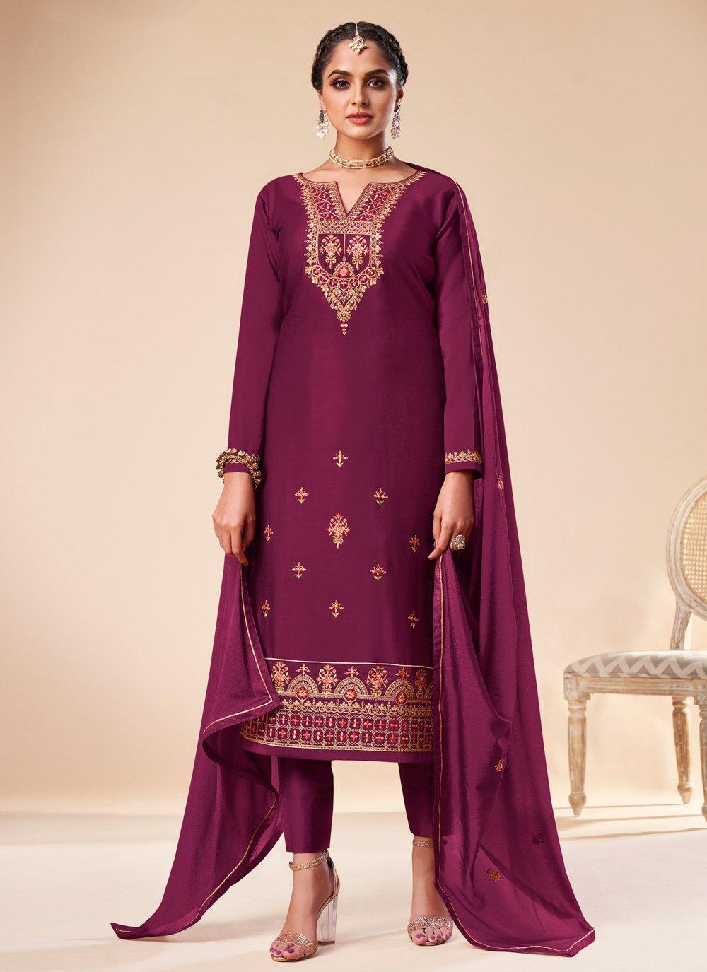 Wine Festival Silk Pant Style Suit